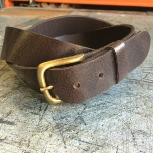 Genuine Leather Belt, 8-9 oz thickness, 1-1/2