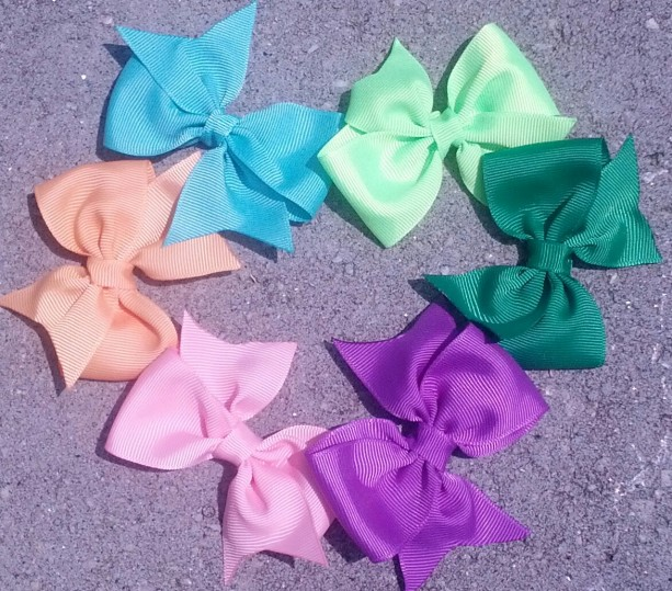 10 Small Pinwheel Style Boutique Bow Your Choice of Colors