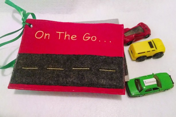 Car activity felt book 4 pages quiet book busy books