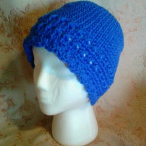 Handmade crochet cloche hat