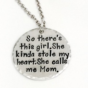 "Handstamped ""This Girl"" pendant with 18"" Sterling Silver Chain"
