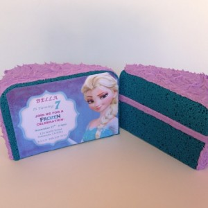 3D Frozen Cake Invitation