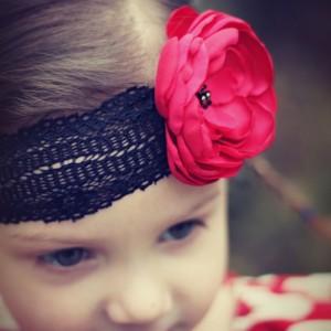 Red Poppy Flower Hedband