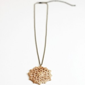 Boho Lace Pendant Necklace
