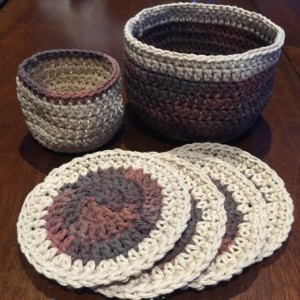 Basket and Coaster Set