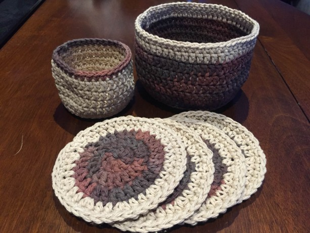 Basket and Coaster Set