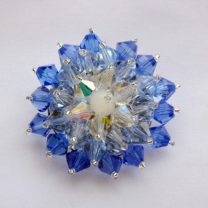 Blue Crystal Brooch Pin
