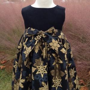 Girls Tea Length Christmas Dress