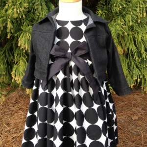 Girls Tea Length Polka Dot Dress