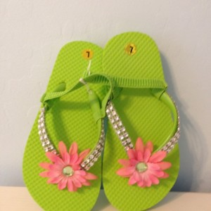 Cute little girl flip flops