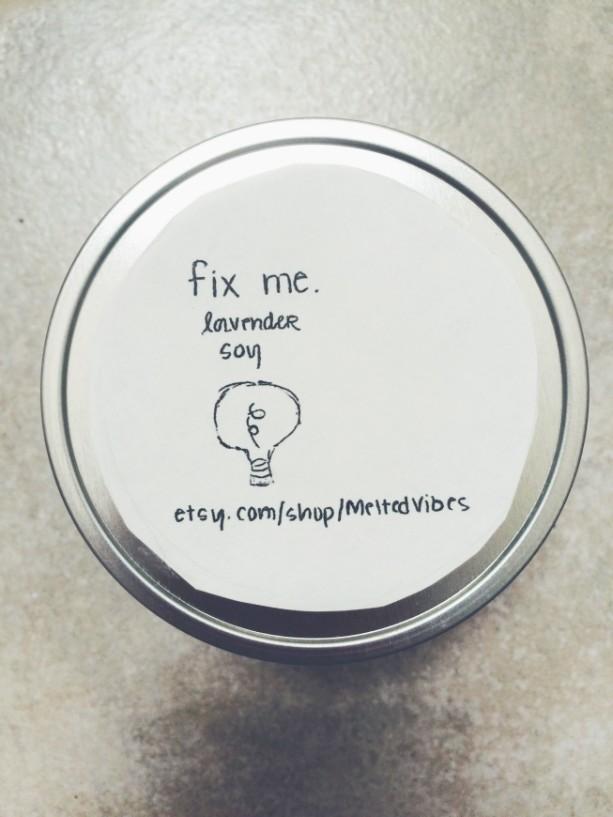 """""""Fix Me"""" Candles"""