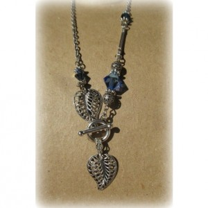 Antique Silver Filigree Leaves Front Toggle Necklace *35% off* (Was $31)