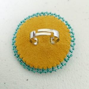 Beaded adjustable ring