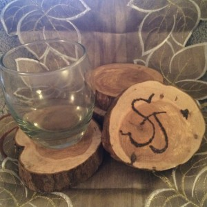 Custom Wood Initial Coasters