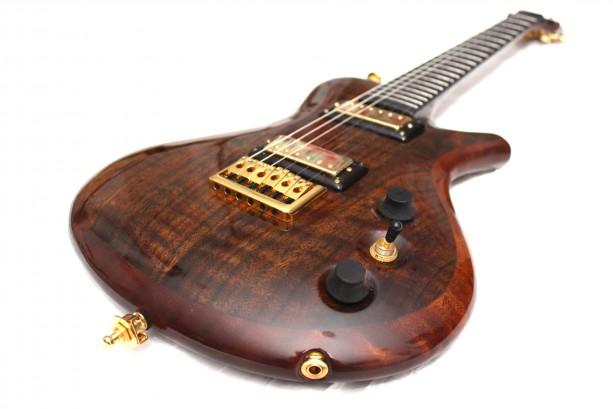 sold anu anan figured walnut custom hollow body guitar aftcra. Black Bedroom Furniture Sets. Home Design Ideas