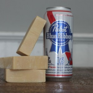 Pabst Blue Ribbon Beer Soap