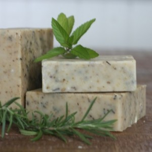Rosemary + Mint Goat Milk Soap
