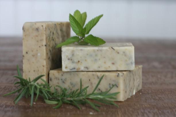 Rosemary + Mint Goat Milk Soap