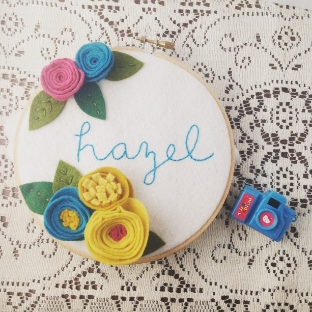 Sweet Girl's Personalized Name Wall Art