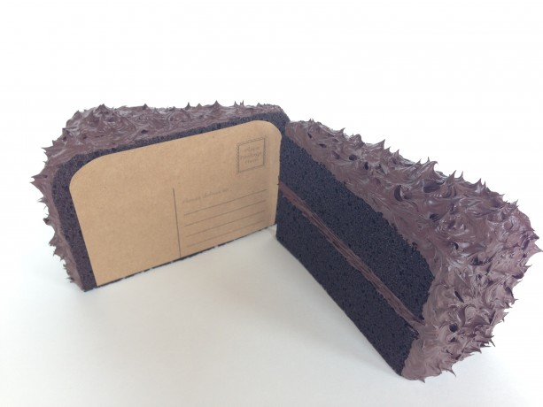 3D Chocolate Cake Postcards