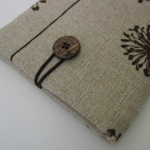 Dandelion cotton canvas fabric iPad mini sleeve cover case