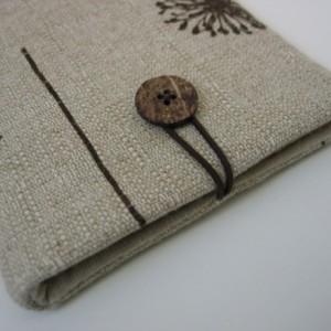 Dandelion cotton canvas fabric iPad mini sleeve cover case