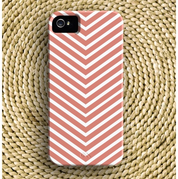 Chevron Stripe Barely-There iPhone Case + Optional Monogram