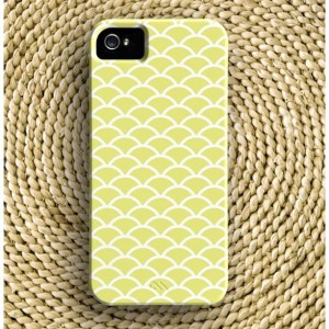 Fish Scale Barely-There iPhone Case + Optional Monogram