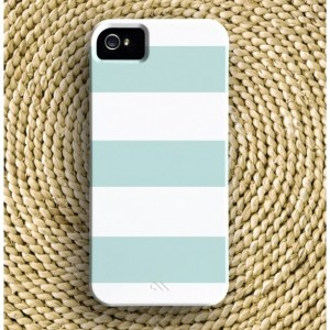 Wide Stripe Barely-There iPhone Case + Optional Monogram