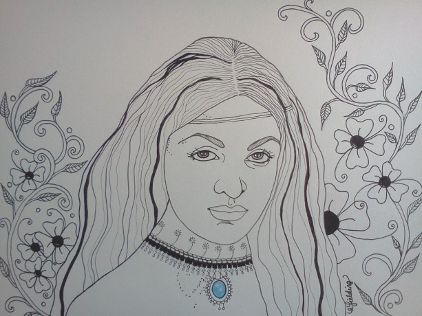 Jewel Ink & Watercolor Illustration