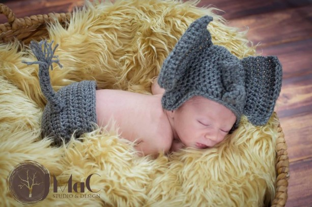 baby elephant hat and diaper cover newborn photography prop  1d3710a7383