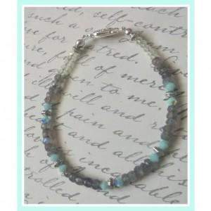 Handcrafted Labradorite Beaded Bracelet