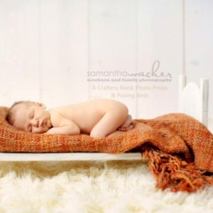 Unfinished Large Traditional Newborn Infant Photography Prop Posing Doll Bed Child Portrait