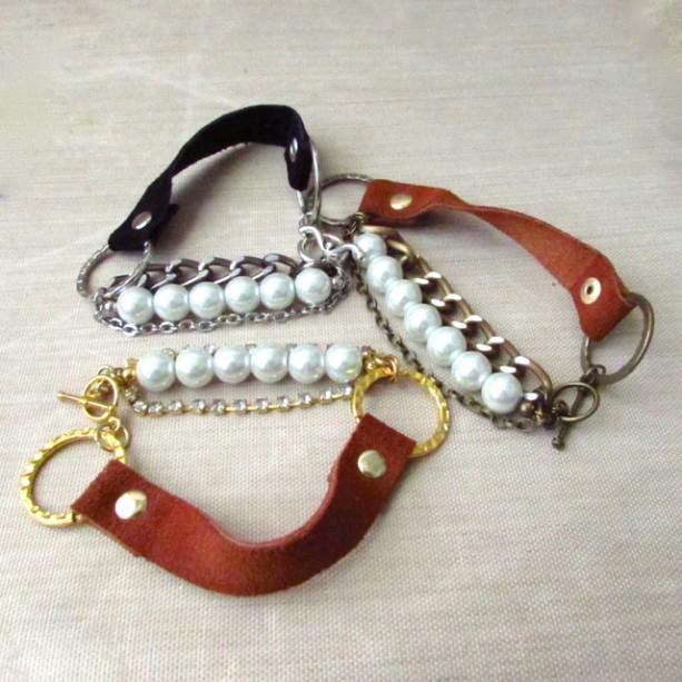 Celebrity leather bracelets
