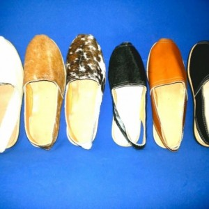 Handmade Leather Cowhide Flats