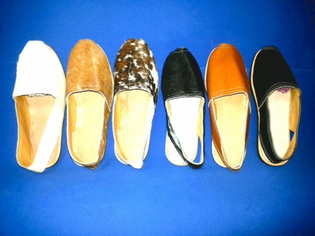 Handmade Leather Cowhide Flats