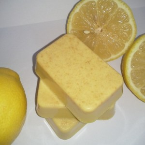 Three Natural Homemade Lemon Zest Soaps