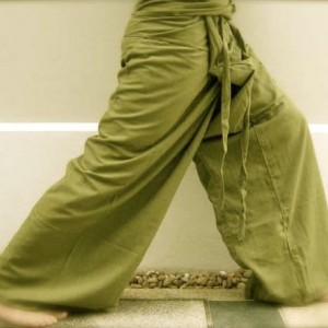 Thai Fisherman Pants - Kona Cotton Lime Green