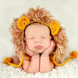 newborn baby lion hat photography prop