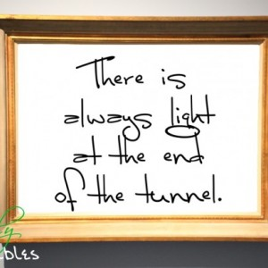 Printable Quote - Wall Art, Hand-Written, Quote To Live by Art, Digital Typography, Calligraphy Print, Light at Tunnel