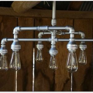 Hampton Seven Light Chandelier Finished in Metallic Silver