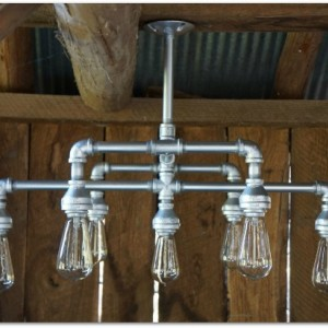 Hampton Seven Light Chandelier Finished in Metallic Silver