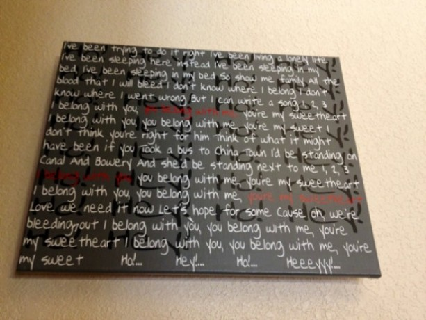 Lumineers Ho Hey Song Lyrics On Canvas Gifts For Her