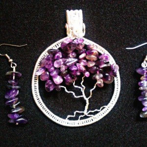 Amethyst Tree Of Life Pendant with FREE Matching Earrings!