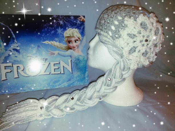 Quenn Elsa Wig/Crochet Hat