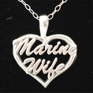 Marine Wife Heart Pendant