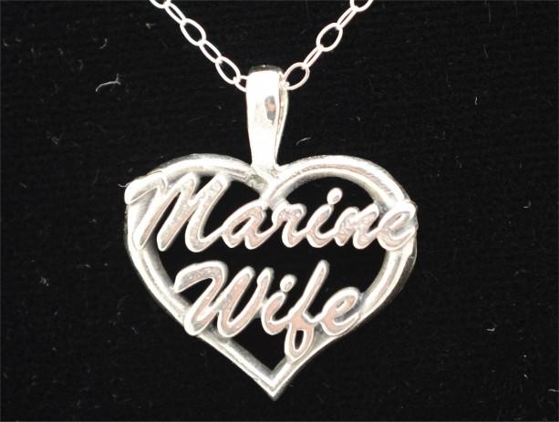 Marine Wife Heart Pendant