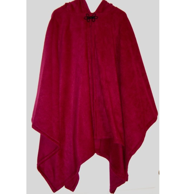 Burgundy Fleece Cape