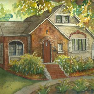 Custom Home Portrait in Watercolor