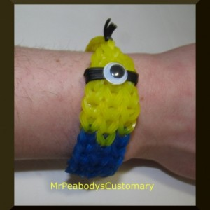 Minion Bracelet New Style Minion Party Rainbow Loom - Kids Birthday Minion Party Favors Jewelry Teenage Children's Gift Birthday Yellow
